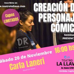 TALLER CREACIÓN DE PERSONAJES – CARLA LANERI